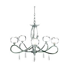 Litecraft - Marta chrome 5 light ceiling light
