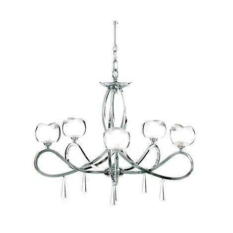 Litecraft - Marta chrome 5 light ceiling light