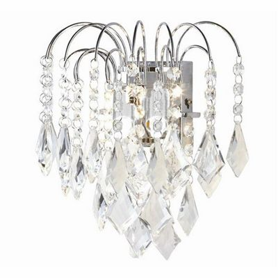 Crystal Wall Lights With Pull Cord : pull cord wall light