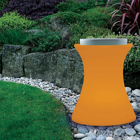 Litecraft - Orange Illuminated Stool with Cushion