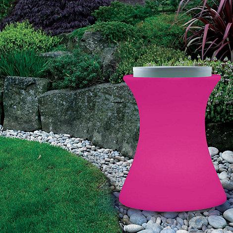 Litecraft - Pink Illuminated Stool with Cushion