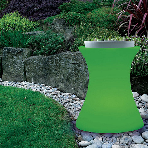 Litecraft - Green Illuminated Stool with Cushion