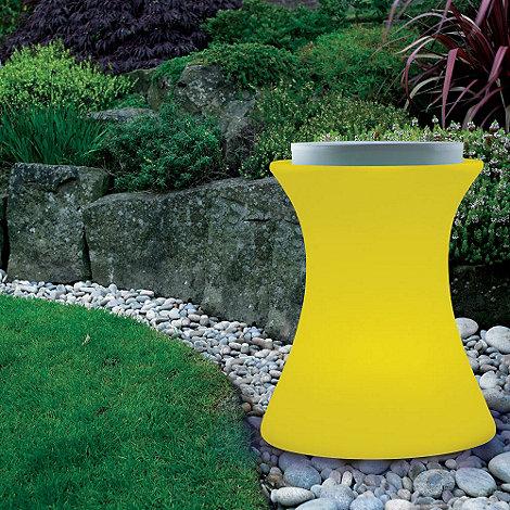 Litecraft - Yellow Illuminated Stool with Cushion
