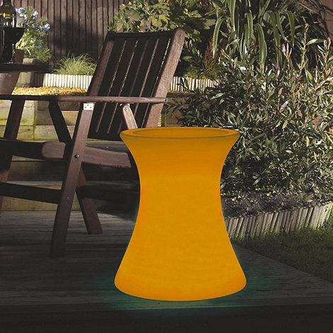 Litecraft - Orange Illuminated Side Table with Glass Top