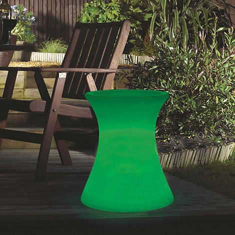 Litecraft - Green Illuminated Side Table with Glass Top