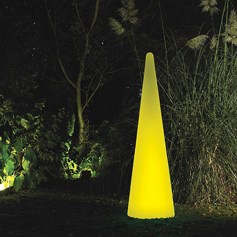 Litecraft - Yellow Illuminated Decorative Cone Light