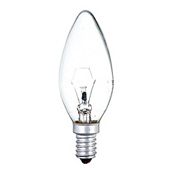 Litecraft - Pack of 30 25w SES Candle Clear Light Bulbs