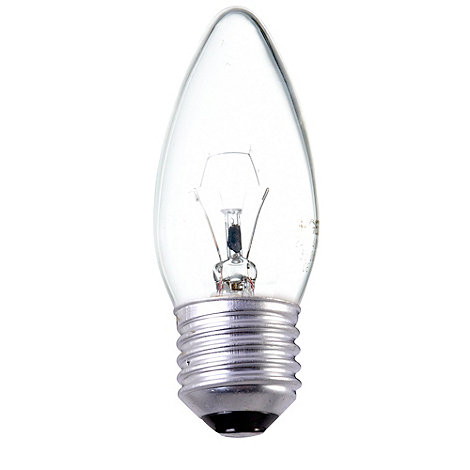 Litecraft - Pack of 30 40w ES Candle Clear Light Bulbs