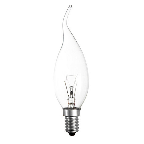 Litecraft - Pack of 20 25w SES Whispy Candle Clear Light Bulbs