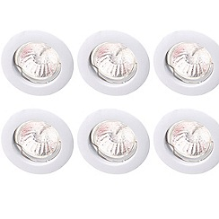 Litecraft - Pack of six  Low Voltage White Downlight Kit