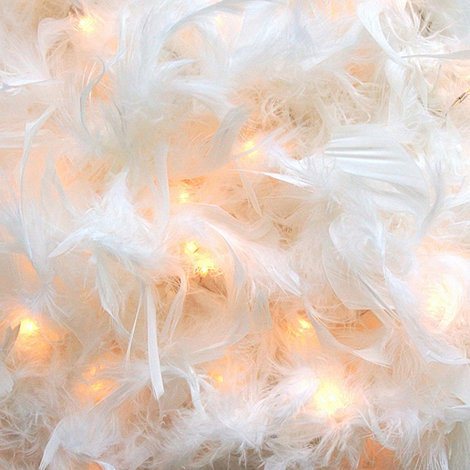 Litecraft - Pack of three White feather boa string lights