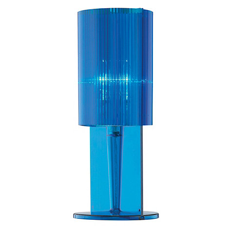 Litecraft - Pack of three Blue acrylic ribbed table lamps
