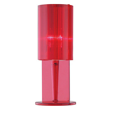 Litecraft - Pack of three Red acrylic ribbed table lamps