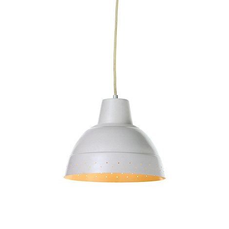 Litecraft - Andre enamel metal 1 light  White ceiling pendant
