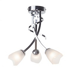 Litecraft - Cayman 3 Light Semi Flush Ceiling Light - Chrome