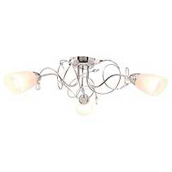 Litecraft - Callie Chrome 3 light semi flush ceiling light