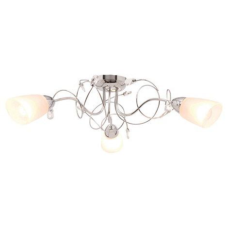 Litecraft - Callie Chrome 3 light semi flush ceiling light