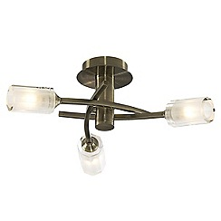 Litecraft - Octi 3 Light Antique Brass Ceiling Light