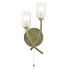Litecraft - Octi 2 Light Antique Brass Wall Light