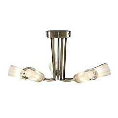 Litecraft - Kay antique Brass 5 light ceiling light
