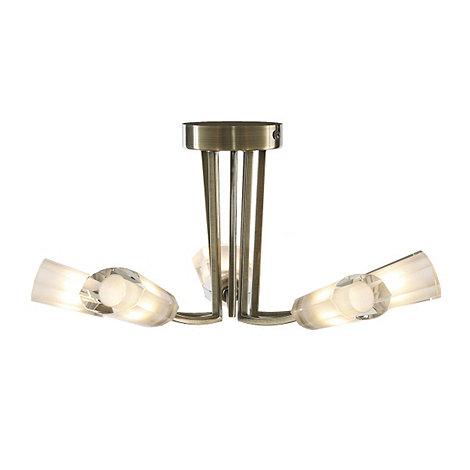 Litecraft - Kay antique Brass 5 light ceiling light
