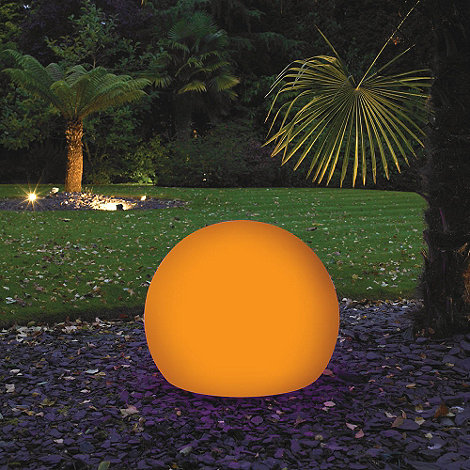 Litecraft - Orange CFL 60cm Illuminated Decorative Ball Light