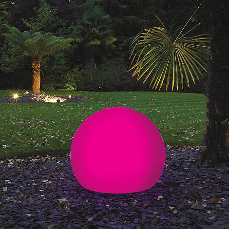 Litecraft - Pink CFL 60cm Illuminated Decorative Ball Light