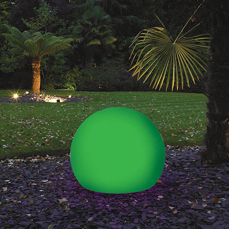 Litecraft - Green CFL 60cm Illuminated Decorative Ball Light