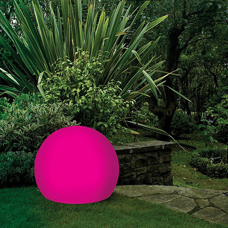 Litecraft - Pink CFL 45cm Illuminated Decorative Ball Light