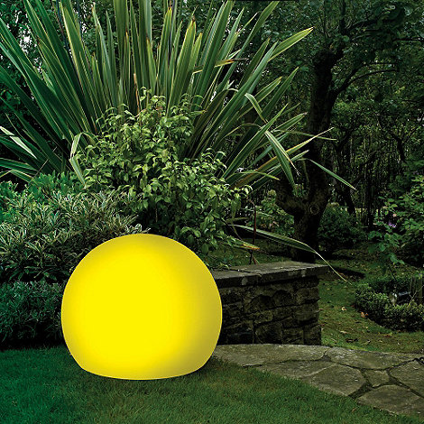 Litecraft - Yellow CFL 45cm Illuminated Decorative Ball Light