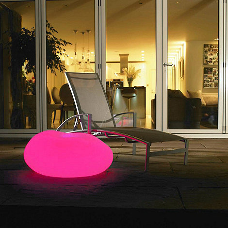 Litecraft - Pink CFL Illuminated Decorative Pebble Light