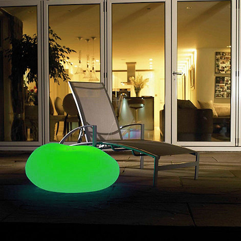 Litecraft - Green CFL Illuminated Decorative Pebble Light