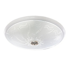 Litecraft - 40w energy saving flush glass ceiling light