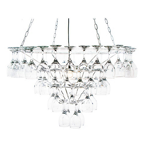 Litecraft - Matt White Four Tier Wine Glass Chandelier