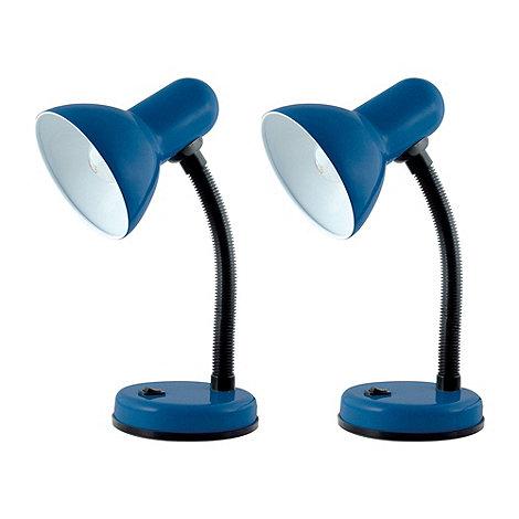 Litecraft - Pack Of 2 Navy Blue Flexi Neck Desk Lamps