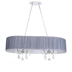 Litecraft - L'amour 8 light double chandelier in pleated shade