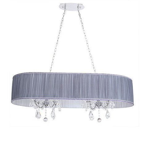 Litecraft - L+amour 8 light double chandelier in pleated shade