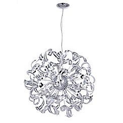 Litecraft - Twirl 12 Light Chrome Pendant Ceiling Light