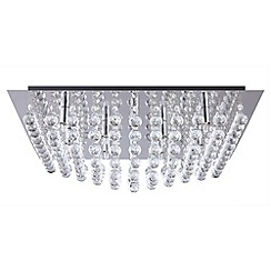 Litecraft - Galaxy K9 Crystal Chrome Flush Ceiling Light