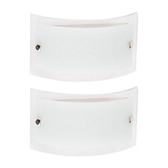 Litecraft - 2 Pack Elysee Brushed Chrome Bathroom Wall Lights