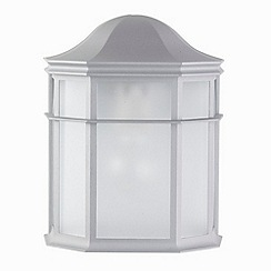 Litecraft - 2 Pack Devon Silver Half Lantern Outdoor Wall Light