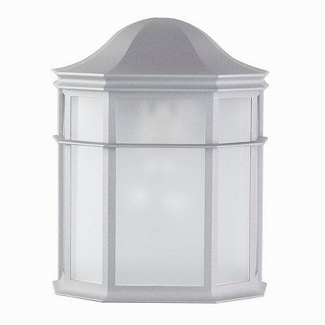 Litecraft - 2 Pack Devon Silver Half Lantern Outdoor Wall Light