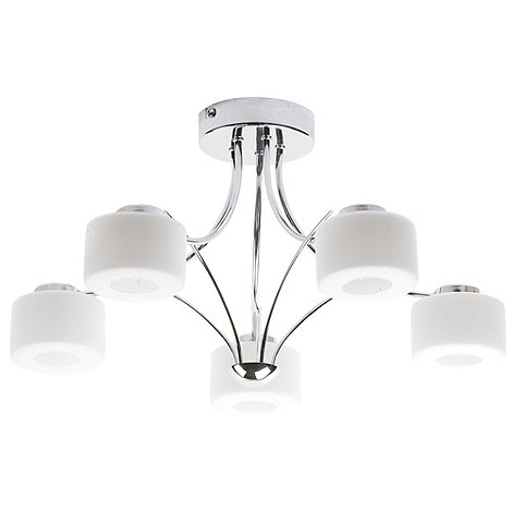 Trizo Chrome 5 Light Ceiling Light