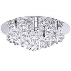 Litecraft - Montego Chrome Round Flush Ceiling Light