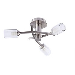 Litecraft - Octi 3 Light Ceiling Light - Satin Chrome