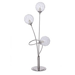 Litecraft - Allium 3 light satin chrome table lamp