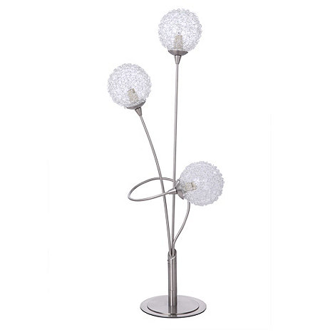 Litecraft - Allium 3 light satin chrome table lamp