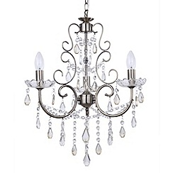 Litecraft - Madonna 3 Light Dual Mount Antique Brass Chandelier
