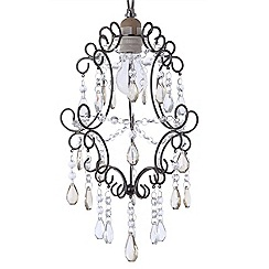 Litecraft - Madonna easy fit Antique Brass pendant shade