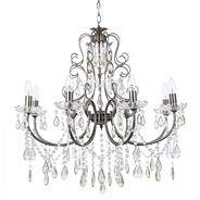 Madonna 8 Light Dual Mount Antique Brass Chandelier